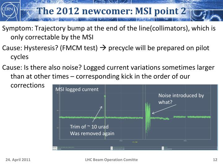 The 2012 newcomer: MSI point 2