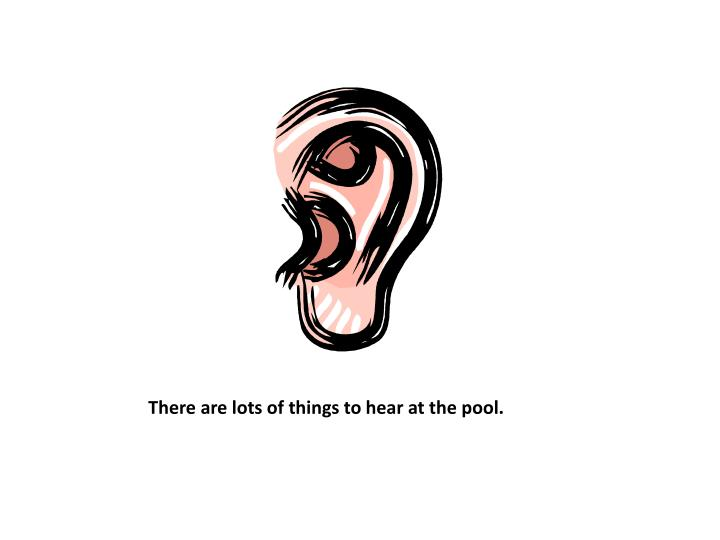 There are lots of things to hear at the pool.
