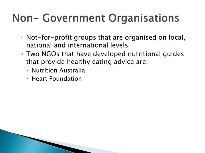 Non government organisations
