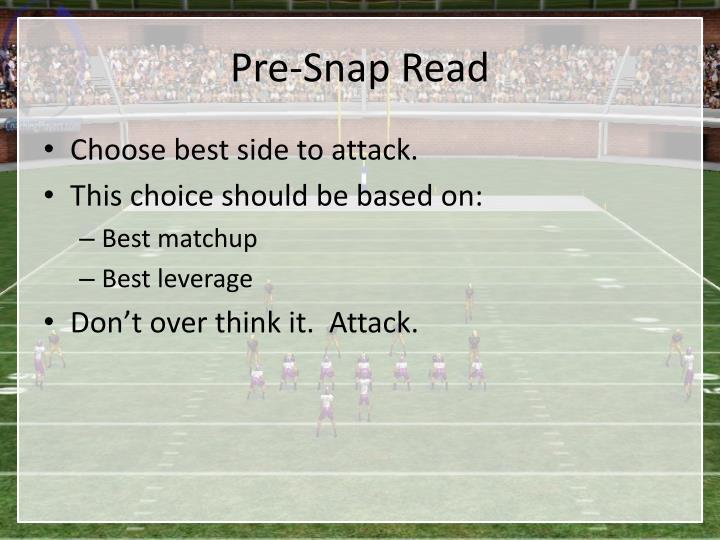 Pre-Snap Read