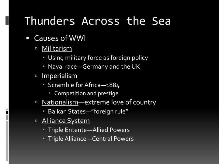 Thunders across the sea
