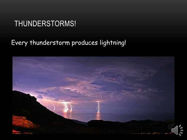 Thunderstorms!