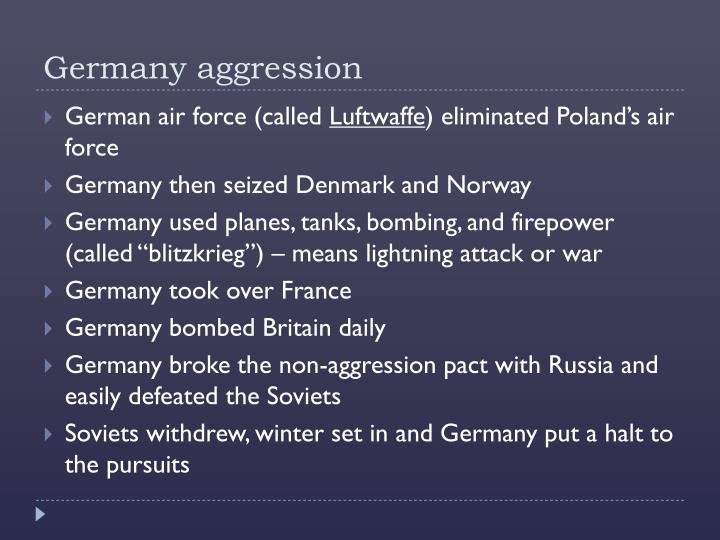 Germany aggression