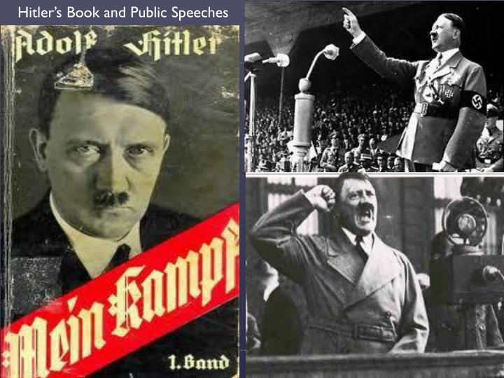 Hitler's Book and Public Speeches