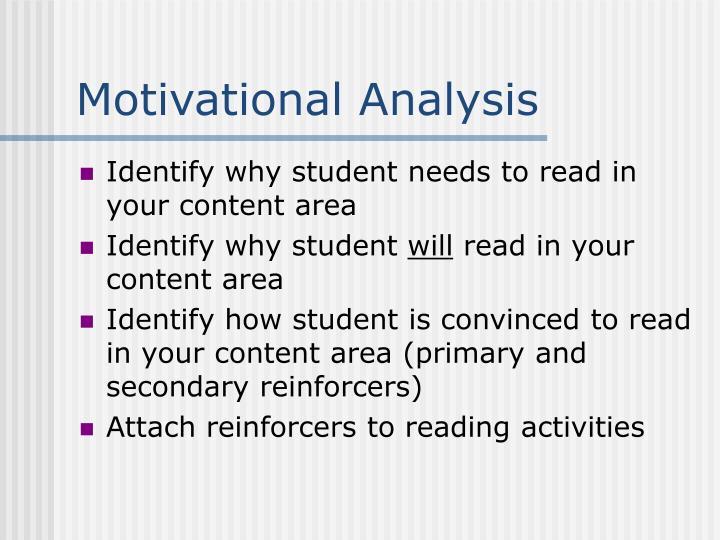 Motivational Analysis