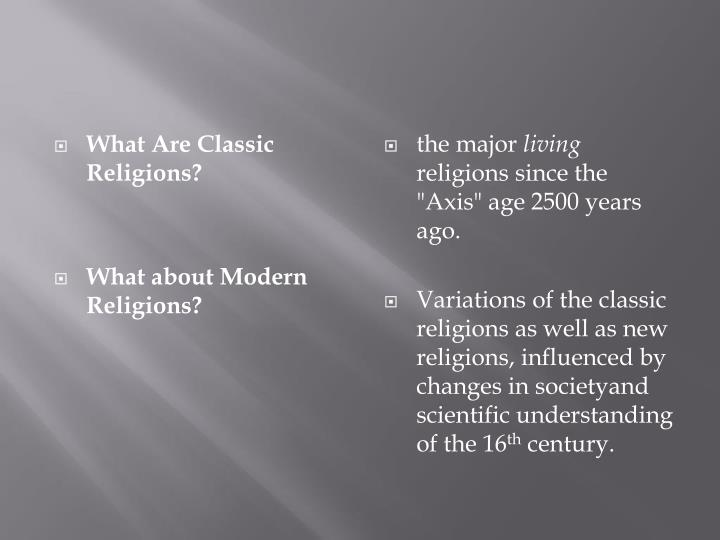 the major influence of religion in our lives What impact does religion have on culture edit classic editor the word religiare (from which we get our common word religion) means to bind back.