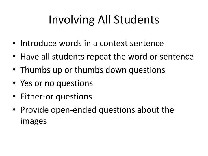 Involving All Students