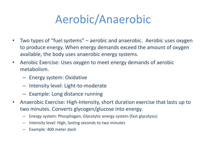 aerobic and anaerobic endurance in badminton essay This anaerobic contribution to atp turnover during endurance performance bouts is noted in  the interplay of aerobic and anaerobic metabolism with.