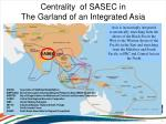 centrality of sasec in the garland of an integrated asia
