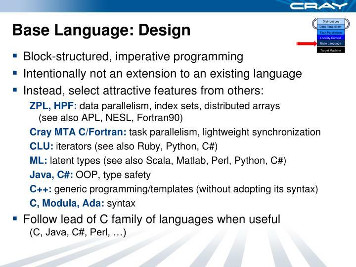 Base language design