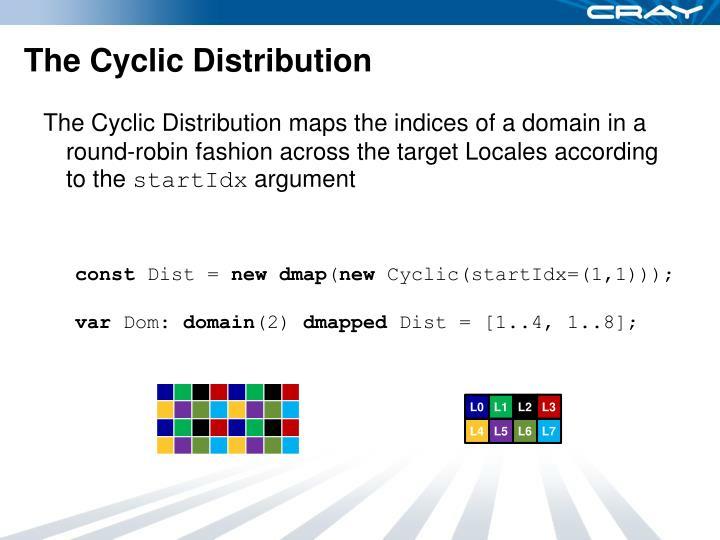 The Cyclic Distribution