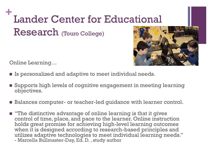 Lander Center for Educational Research