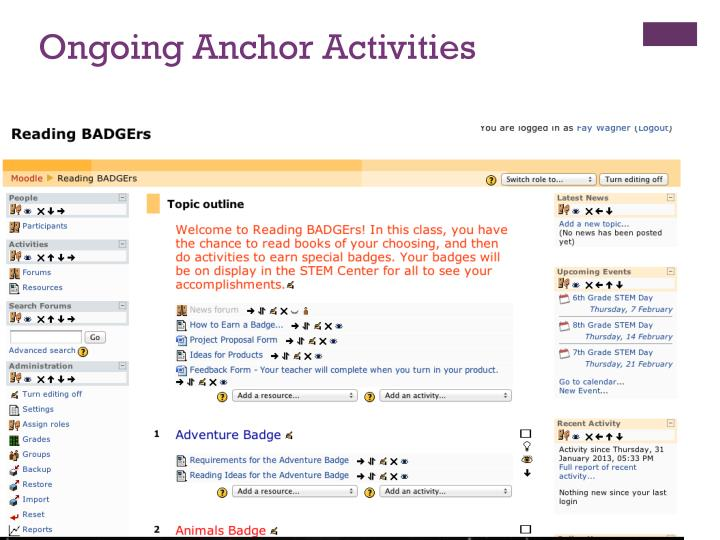 Ongoing Anchor Activities