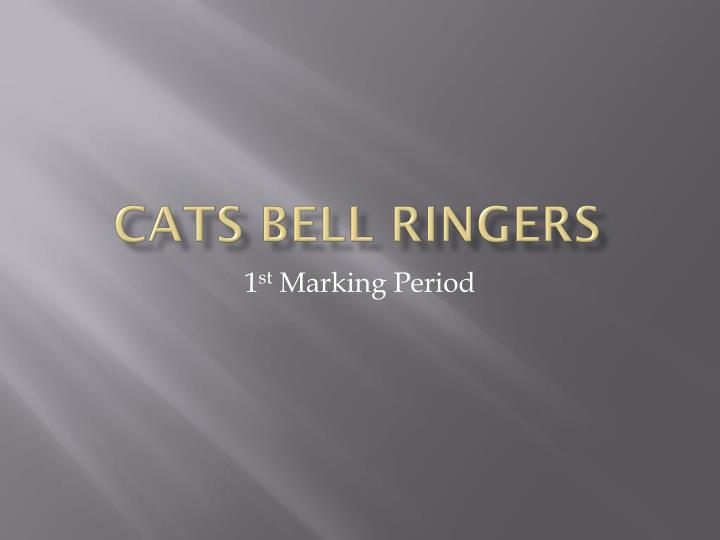 cats bell ringers n.