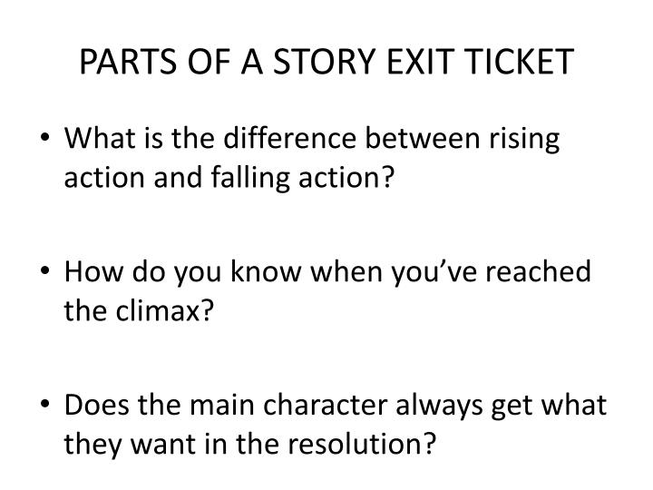 parts of a story exit ticket n.