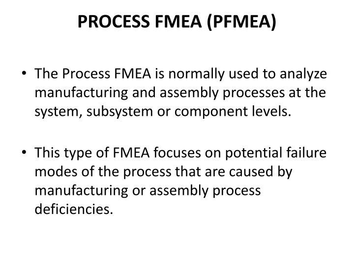 PROCESS FMEA (PFMEA)