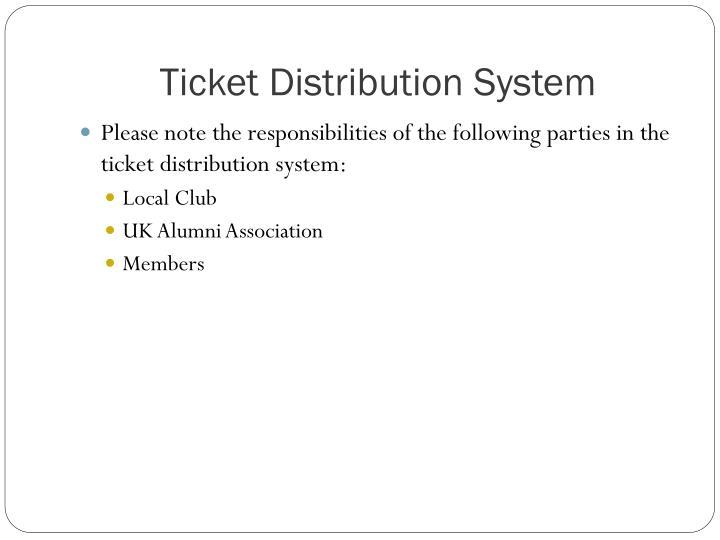 Ticket Distribution System