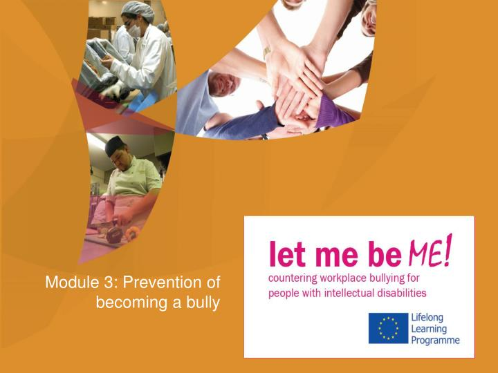 module 3 prevention of becoming a bully n.