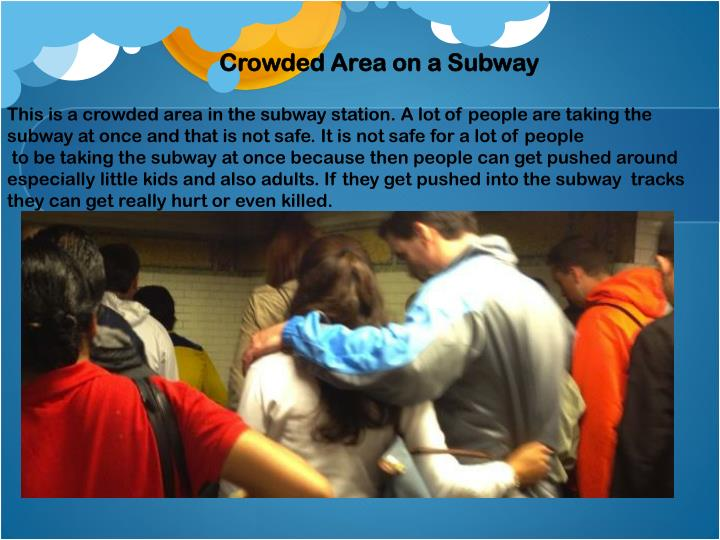 Crowded Area on a Subway