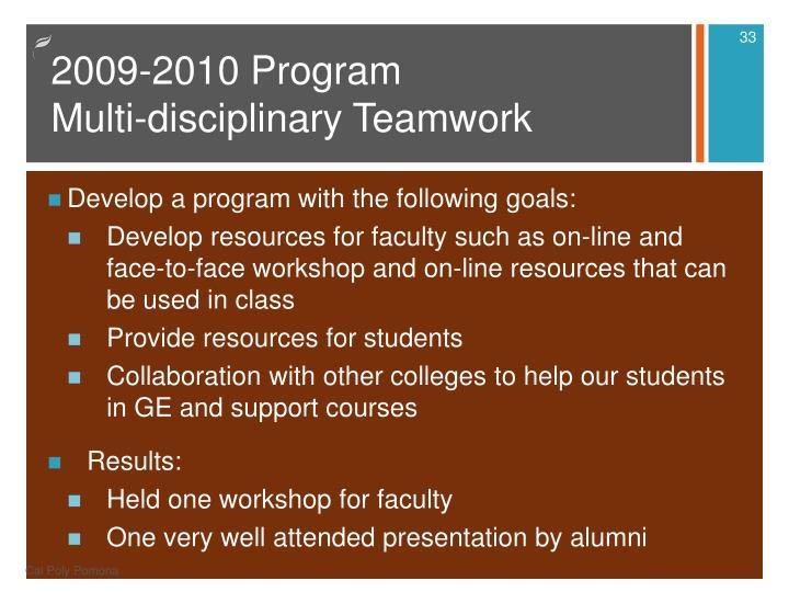 2009-2010 Program