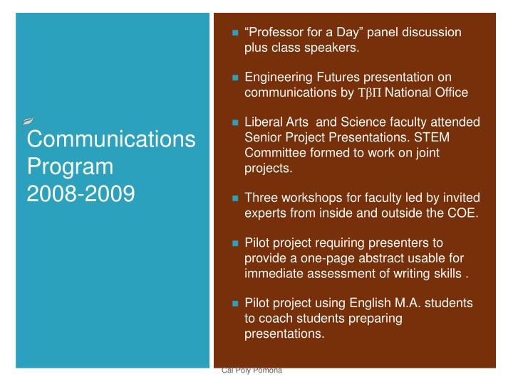 """""""Professor for a Day"""" panel discussion plus class speakers."""