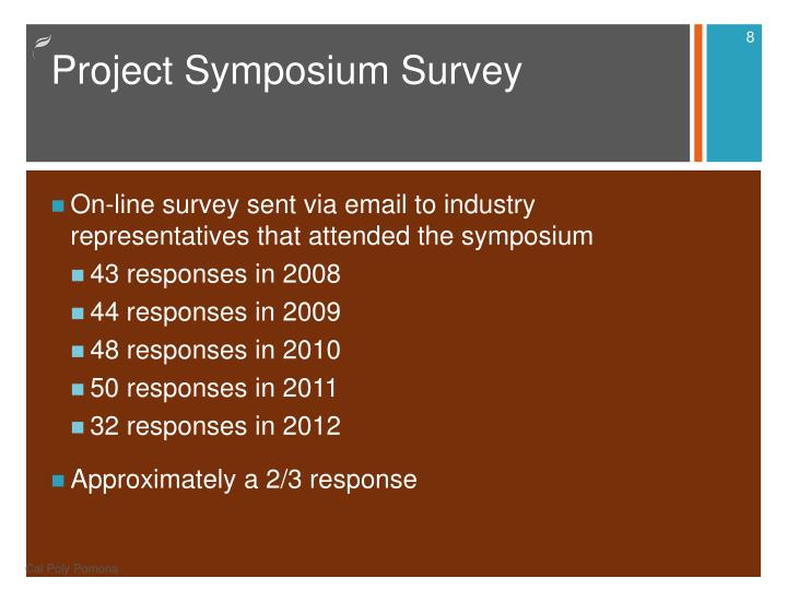 Project Symposium Survey
