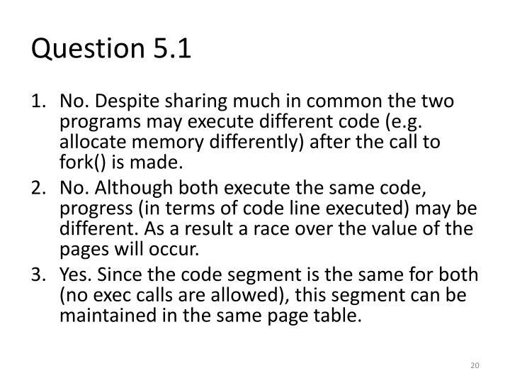 Question 5.1