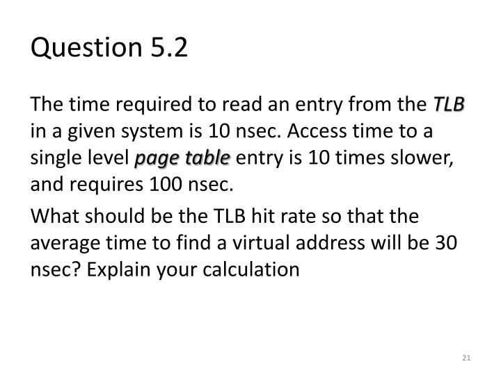Question 5.2