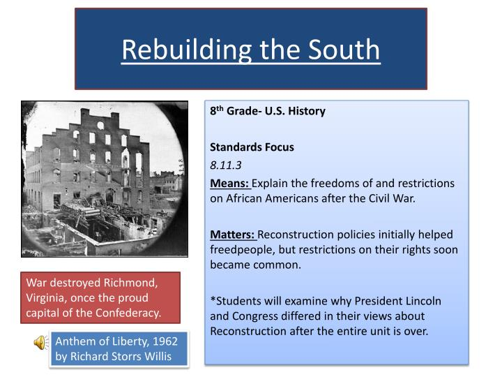 rebuilding the south n.