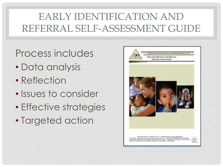 Early Identification and referral Self-Assessment Guide