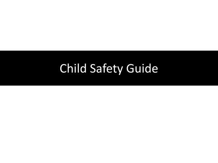 child safety guide n.