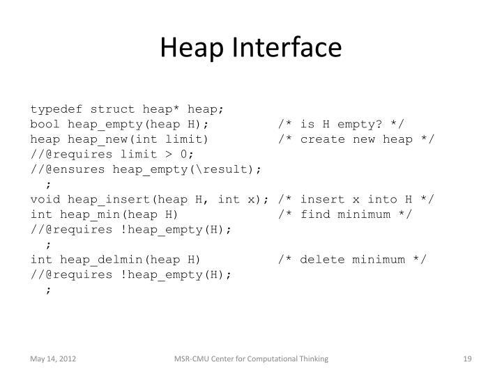 Heap Interface