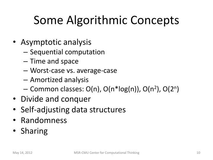 Some Algorithmic Concepts