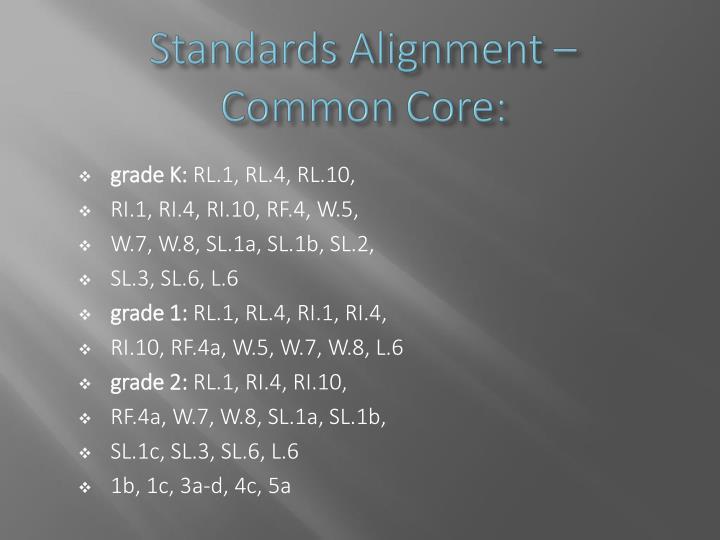 Standards Alignment –