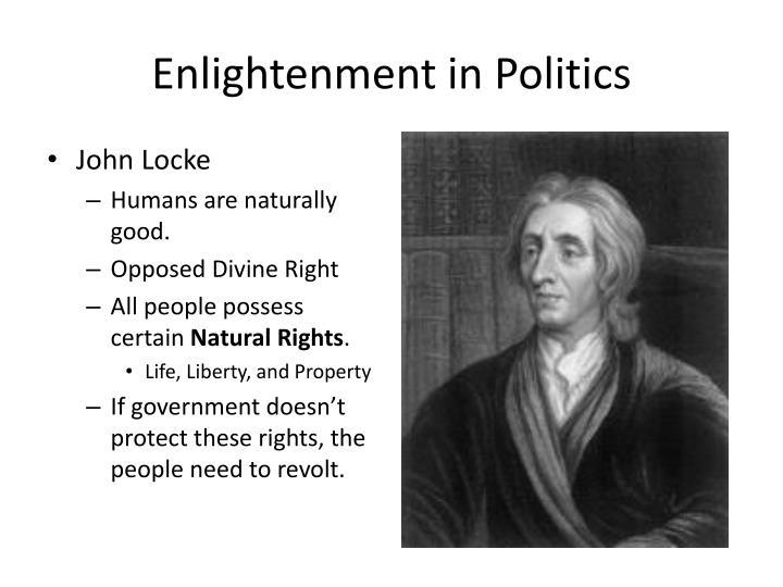 Enlightenment in politics1
