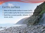 earths surface