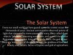 the solar system1