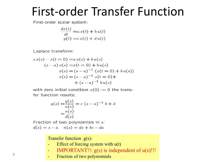 PPT - First-order Transfer Function PowerPoint Presentation, free download  - ID:2493923