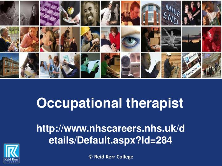 occupational therapist n.