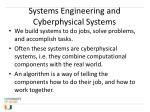 systems engineering and cyberphysical systems