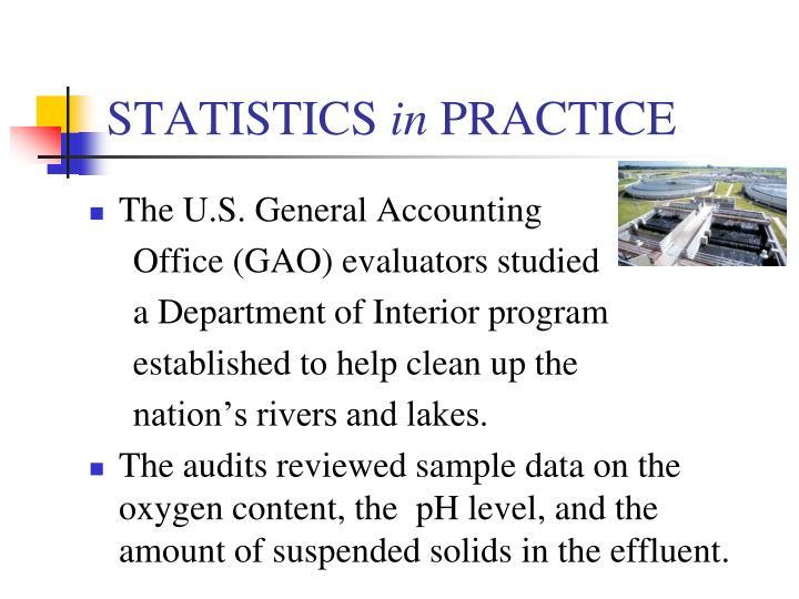 Statistics in practice
