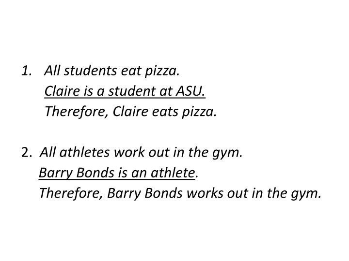 All students eat pizza.