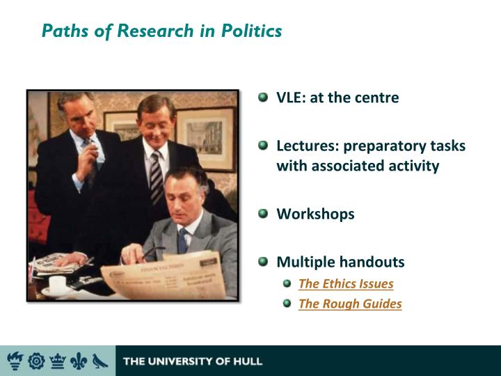 Paths of Research in Politics
