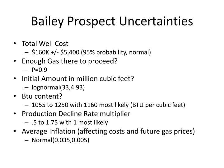 Bailey Prospect Uncertainties