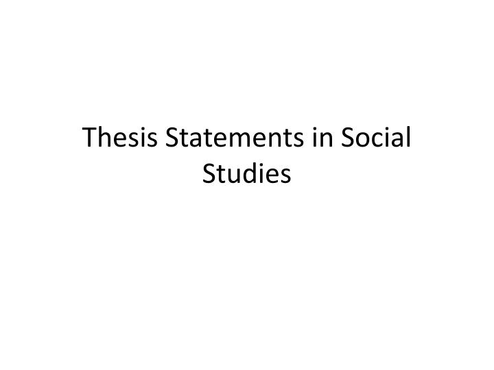 thesis about social studies Thesis in evaluation of grade 7 in social studies number 7 in 2018 for education a second trajectory of analysis needs to be the pretensions of 7 of.