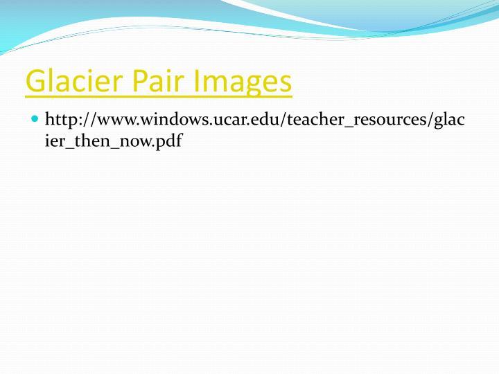 Glacier pair images
