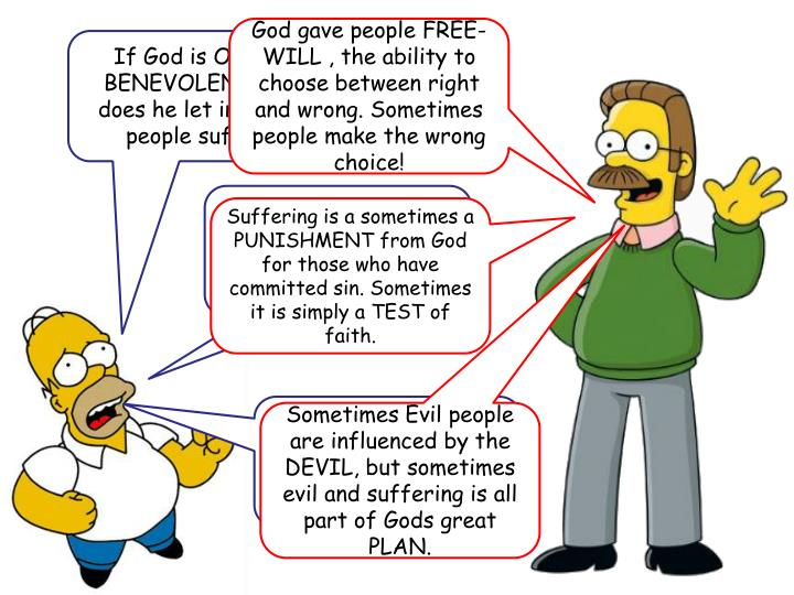 God gave people FREE-WILL , the ability to choose between right and wrong. Sometimes people make the wrong choice!