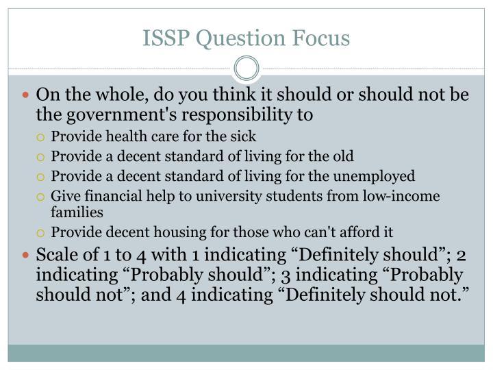 ISSP Question Focus