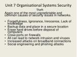 unit 7 organisational systems security7