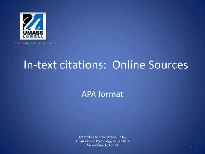 apa format for online sources